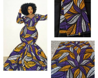 African Fabricafrican fabric by the yardAfrican Print FabricAnkara PrintAfrican PrintAnkara DressTissu africainAfrican Dressheadscar