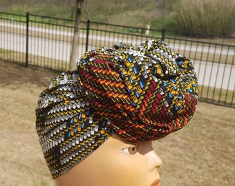 Brown African Fabric Headwrap; African Headwrap; African Fabric; Headwrap; African Scarf; Headtie; Headband, Turban