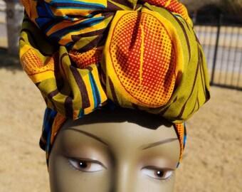 Multicolor Headwrap; African Headwrap; African Clothing; African Fabric; Headwrap; African Scarf; Ankara Headwrap; Headtie; Headband; Turban