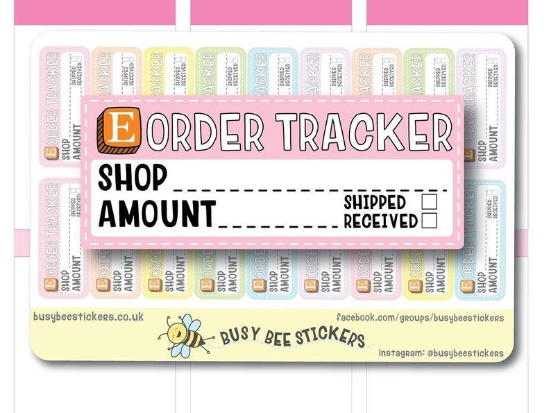 56f1323c90456 Etsy Order Tracker Planner Stickers, Etsy Orders, Etsy Tracker, Filofax,  Order Tracker, Happy Planner Stickers, Erin Condren Stickers.