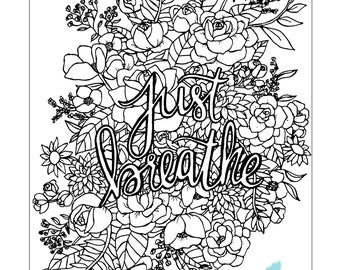 Just Breathe Printable Coloring Page