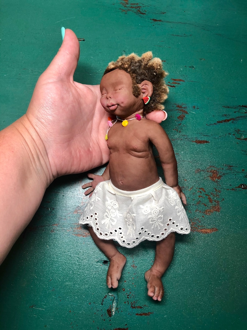 Biracial African American super soft Full body silicone baby image 0