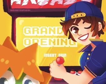 Sakura's Arcade 11 x 17 Print