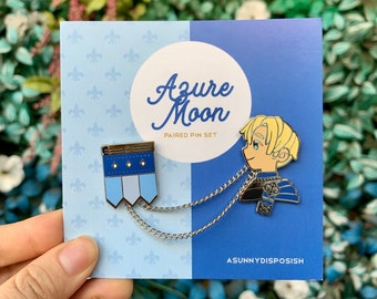 FE3H Blue Lions Dimitri Paired Pin Set