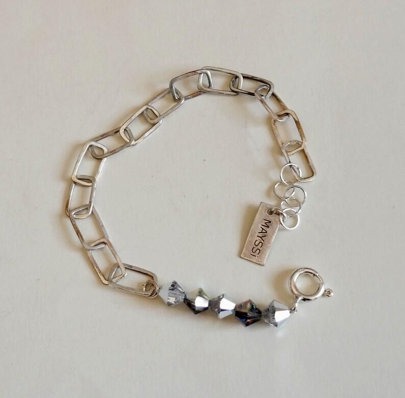 44700d328 Handmade Sterling Silver Chain Bracelet Chain Jewelry   Etsy