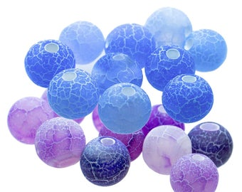 10 high quality agate beads between beads, 6mm, free color choice (colour: purple)