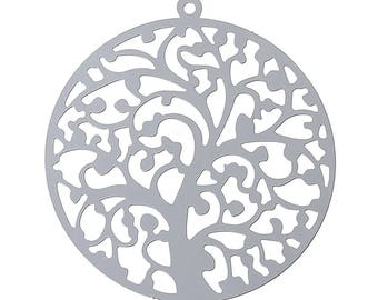 "10 Stainless Steel Pendant ""tree"", 43 x 40 mm"