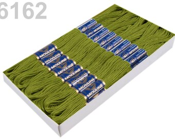 24 Dock embroidery/Stick twist #6162 Piquant Green
