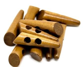 30 Knobs Wood, 5 x 1.3 cm, Brown