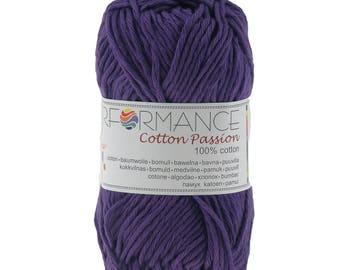 10 x 50g knitted yarn cotton passion 100% cotton, #0285 purple