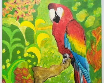"""Painting """"Happy Parrot"""""""