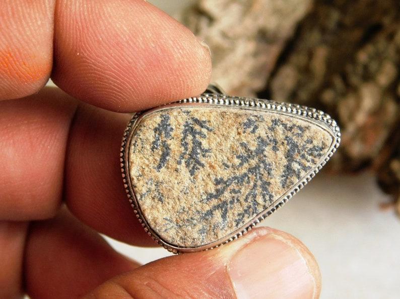 Psilomelane Dendrite ring gift for ring Sterling Silver ring men/'s ring US size-9 Psilomelane  Ring designer ring Handmade ring D53