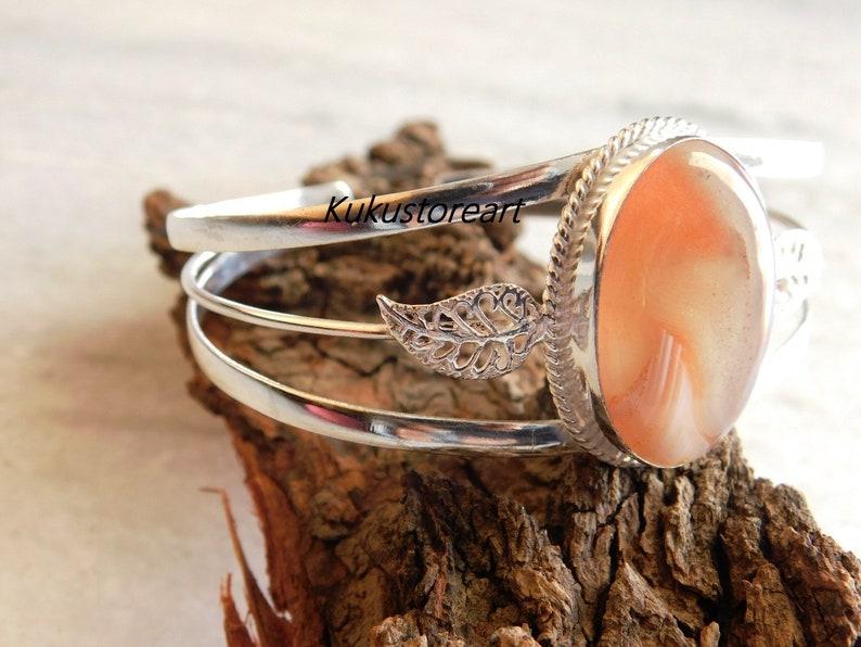 Adjustable bangle botswana agate bracelet,sterling silver Bracelet botswana agate bangle gift bracelet, montana bracelet,stone bracelets
