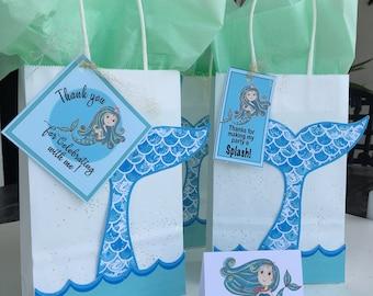 Mermaid | Under The Sea | Mermaid Party | Mermaid Gift Bags |Mermaid Party Idea DIY