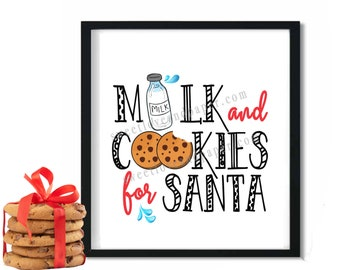 Milk and Cookies for Santa | Christmas Print