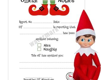 Elf on a Shelf Report to Santa