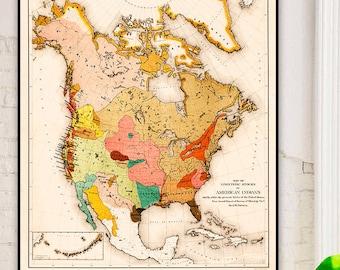 Map native american | Etsy