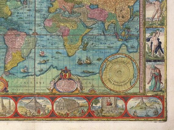 1662 Blaeu/'s Atlas Maior Vintage Map Poster by Joan Blaeu Multiple Sizes