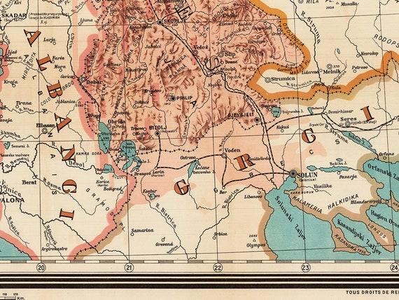 Jugoslawien Karte.Jugoslawien Karte 1917 Ethnographischen Karte Yugoslavia Yugoslavia Poster Großformat Kunstdruck