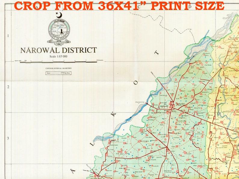 Narowal District, Punjab Pakistan, Narowal Punjab map print, Narowal  Pakistan, Narowal Map, Pakistani, Pakistan Map, Pakistan poster map
