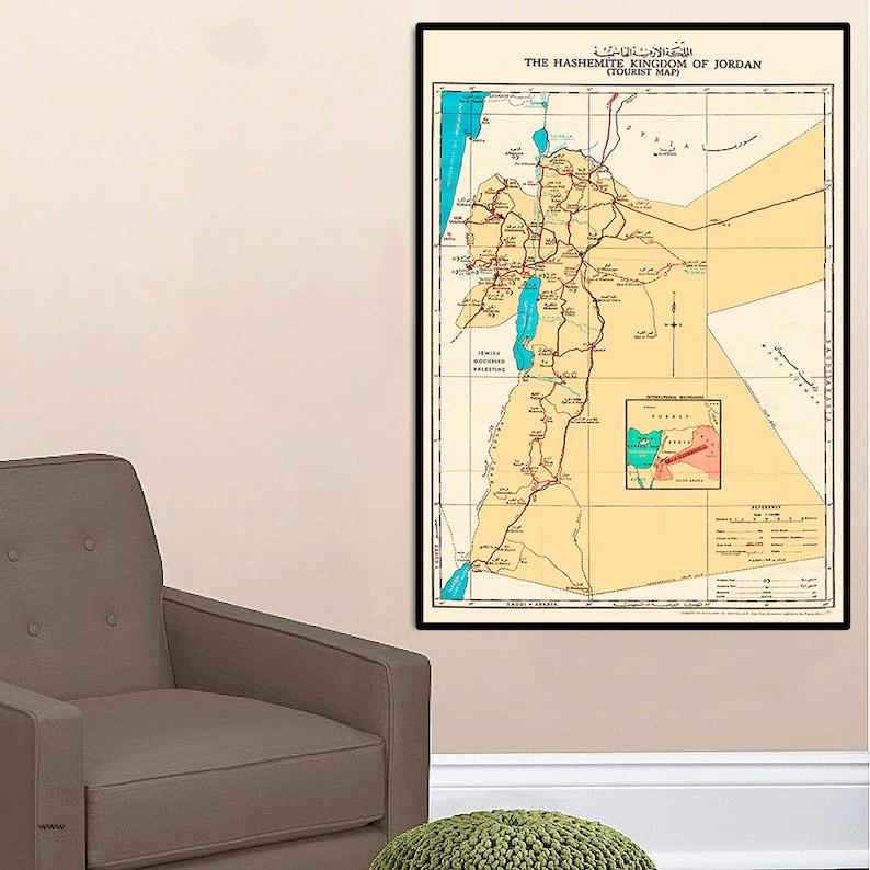Jordan map, 1955.Hashemite Kingdom of Jordan, roads with distances; on saudi arabia map, united kingdom map, people's republic of korea map, brazil map, kingdom of moab, papua new guinea map, aqaba jordan map, antigua and barbuda map, hong kong map, the bahamas map, republic of nauru map, iran map, india map, moldova map, united arab emirates map, jordan geography map, amman-jordan map, bermuda map, french wine map,