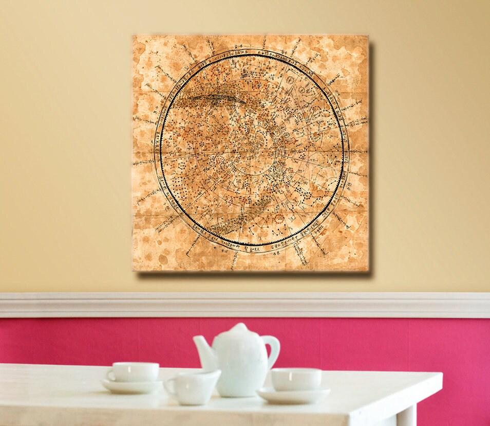 Rare Korean Celestial and Zodiacal Constellation Chart   Etsy