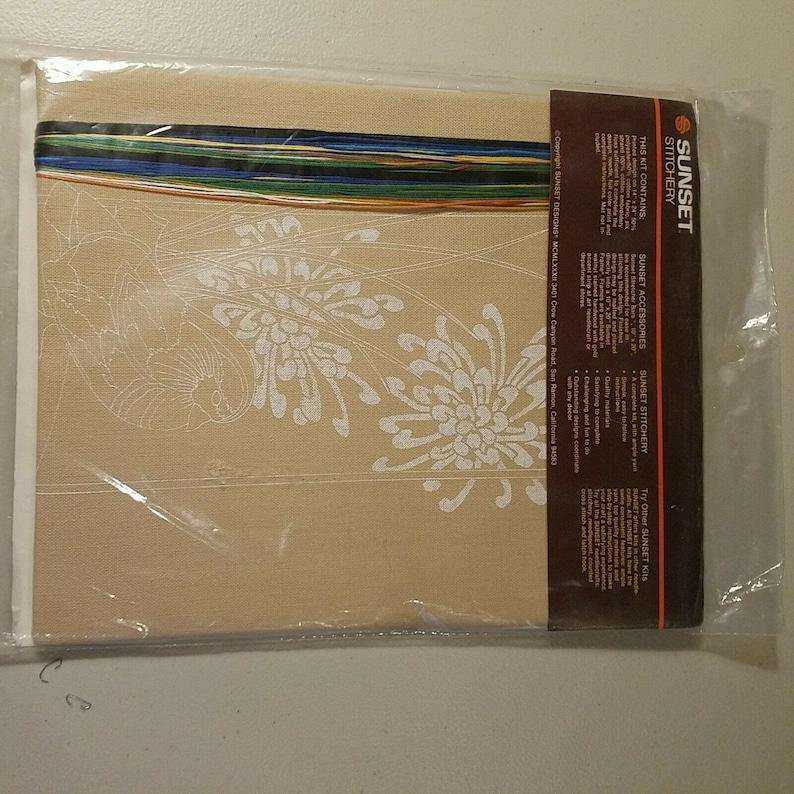 Sunset Stitchery Mandarin Duck Embroidery Kit 2551 New 1982 Nancy Rossi 10 x 20