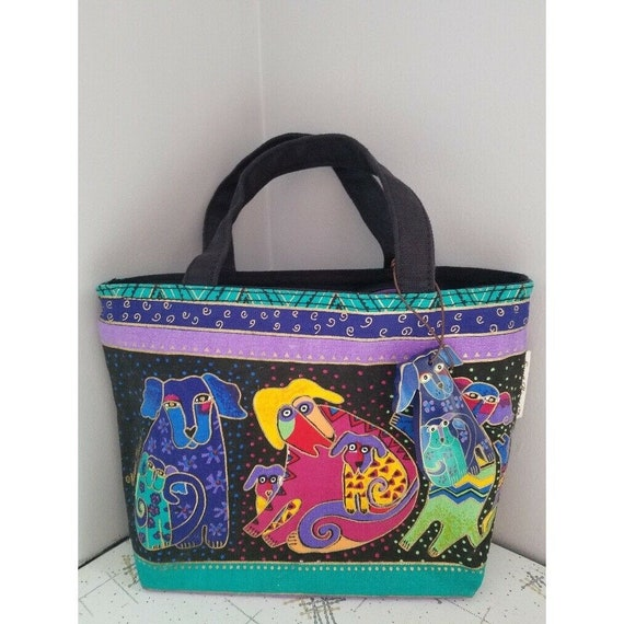 Dogs and Doggies Small Tote Bag NWT Laurel Burch