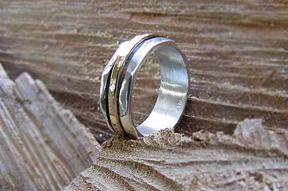 Solid 925 Sterling Silver Spinner Ring Meditation Handmade Women Jewelry   S39