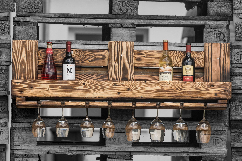 Wine Shelf Palette Pallet Furniture Pallet Shelf Upcycling Etsy