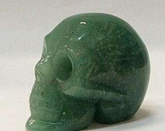 50mm Stone Skull in Aventurine Stone