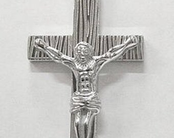 """Cross in Stainless Steele with 24"""" Stainless Steele Chain"""
