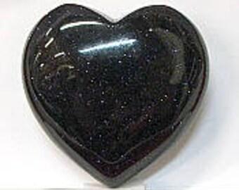 Heart in 40mm Blue Goldstone