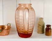French rose glass vase, F...