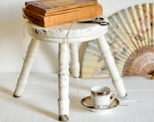 French painted stool, chi...