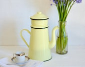 French Enamel Coffee Pot,...
