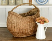 French Vintage Wicker Bas...