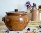 Brown Stoneware crock, st...