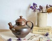 French Ceramic Teapot, stoneware teapot, studio pottery, rustic teapot