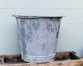 French metal bucket, Fren...