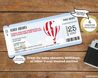 Boarding pass invite etsy boarding pass party invitation editable printable world traveller airplane retirement pilot baby shower birthday bon voyage travel wtappt filmwisefo