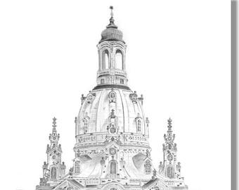 Frauenkirche Dresden - original signed art print