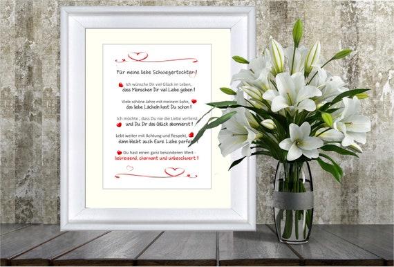 Für Meine Liebe Schwiegertochter Liebevolles Geschenk Für Die Schwiegertochter 24x30 Cm Mit Passepartout Beste Schwiegertochter