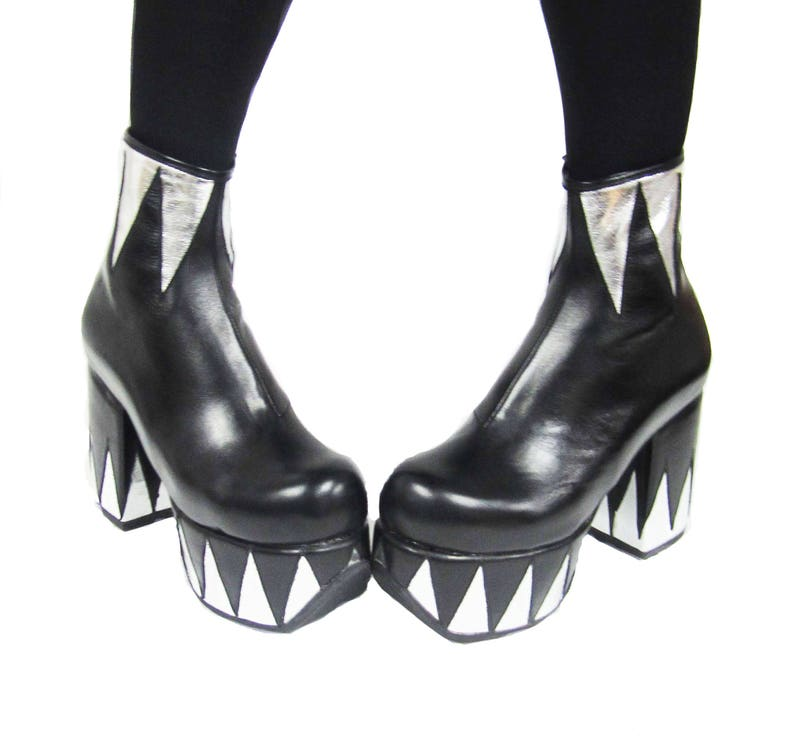 6136218170db RINGMASTER Platform Glam Circus Boots Isabella Mars Black