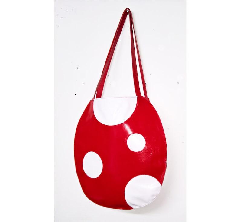 7e107c024a76 Cartoon Mushroom Polkadot Tote Shoulder Bag Handbag Shopper