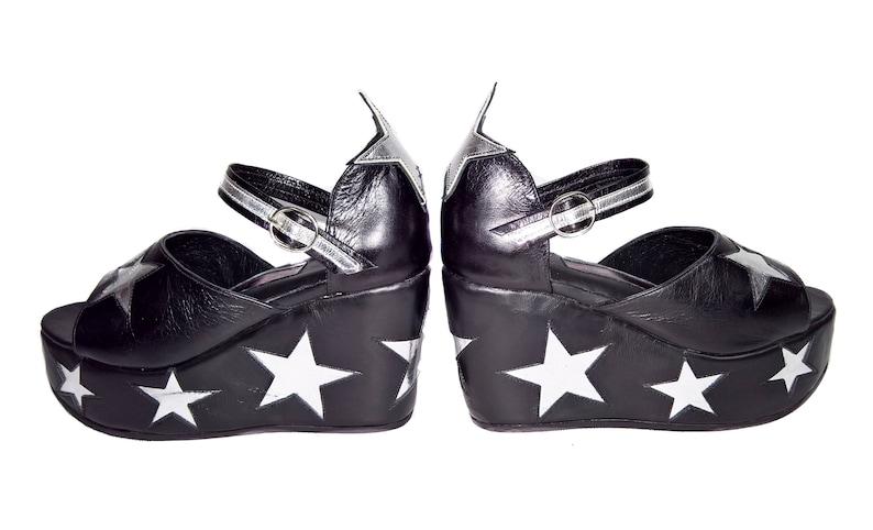 8b013bc47f72 STARDUST Star Platform Shoes Sandals Isabella Mars Black