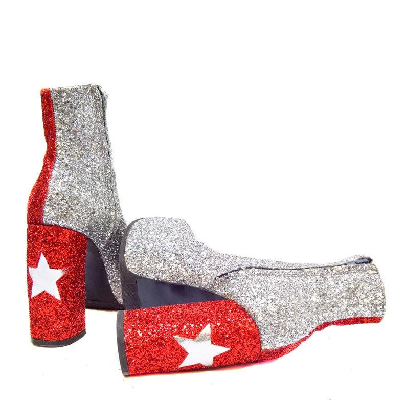 b29bea3716d1 Harlequin STARDUST Star Platform Glitter Circus Boots
