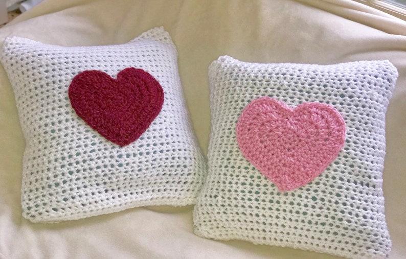 Heart throw pillow cover