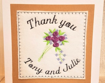 Embroidered Thank you card