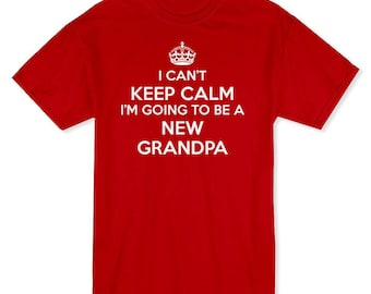Free Shipping Keep Calm I'm Going To Be A GrandpaT-Shirt #110